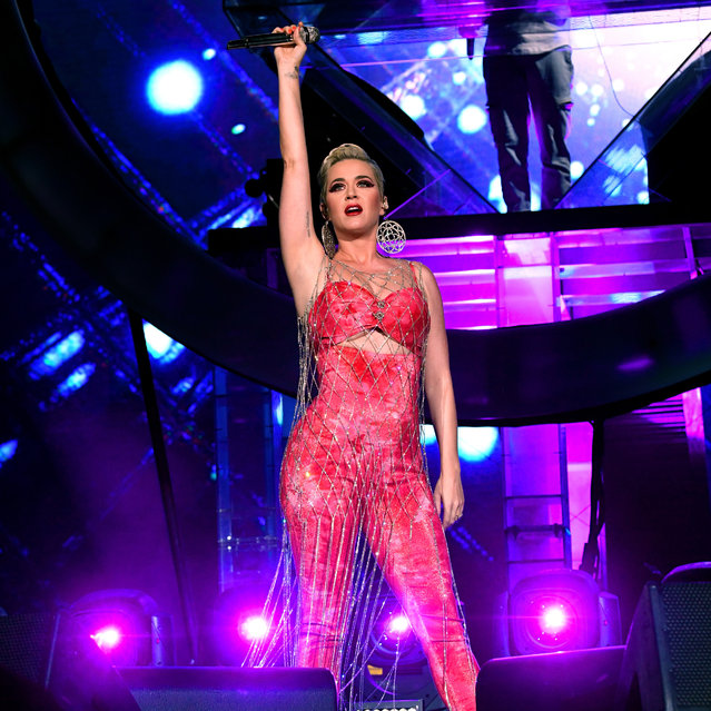 Katy Perry performs onstage with Zedd at Coachella Stage during the 2019 Coachella Valley Music And Arts Festival on April 14, 2019 in Indio, California. (Photo by Kevin Winter/Getty Images for Coachella)