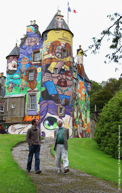 Graffiti At Kelburn Castle