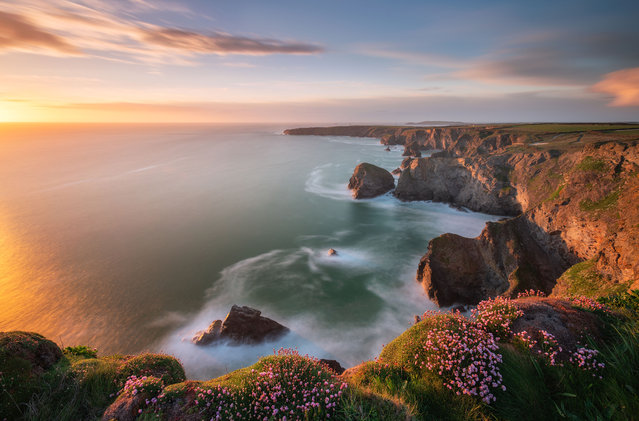 Bedruthan Steps, Cornwall. (Photo by Alessio Putzu/Caters News Agency)