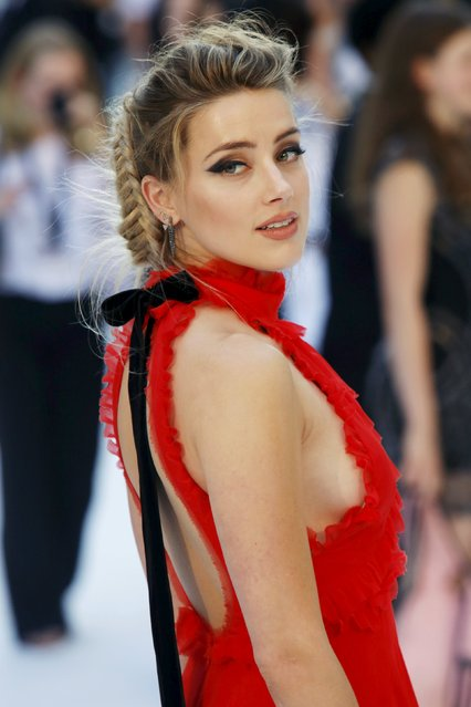"""Actress Amber Heard poses at the European premiere of """"Magic Mike XXL"""" at Leicester Square in London, Britain June 30, 2015. (Photo by Luke MacGregor/Reuters)"""