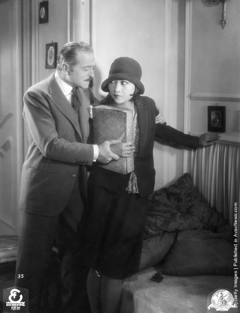 1925: Chinese-American actress Anna May Wong (1907 - 1961), in a film with actor Gaston Farquet