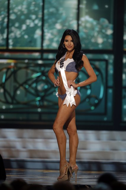 Miss Texas, Ylianna Guerra, competes in the bathing suit competition during the preliminary round of the 2015 Miss USA Pageant in Baton Rouge, La., Wednesday, July 8, 2015. (Photo by Gerald Herbert/AP Photo)