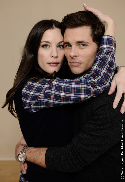 Actress Liv Tyler and actor James Marsden pose for a portrait during the 2012 Sundance Film Festival