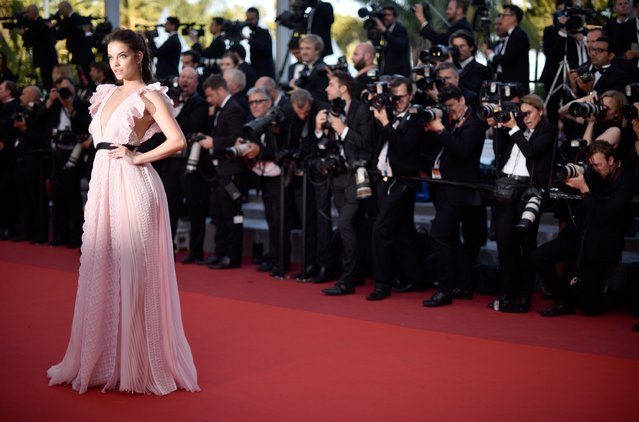 "Barbara Palvin attends the ""Julieta"" premiere during the 69th annual Cannes Film Festival at the Palais des Festivals on May 17, 2016 in Cannes, France. (Photo by Clemens Bilan/Getty Images)"