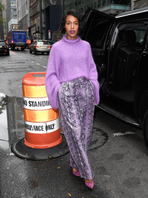 Kerry Washington is seen at the today show on October 30, 2019 in New York City. (Photo by Raymond Hall/GC Images)