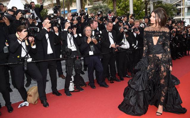 "Model Emily Ratajkowski attends the ""Loveless (Nelyubov)"" screening during the 70th annual Cannes Film Festival at Palais des Festivals on May 18, 2017 in Cannes, France. (Photo by Stephane Cardinale/Corbis via Getty Images)"