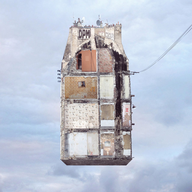 """Laurent Chehere's """"Flying Houses"""": """"On the Wall"""". (Photo by Laurent Chehere)"""