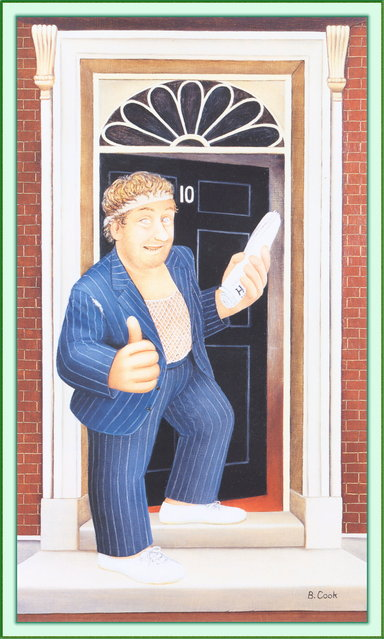 Rab C. Nesbitt. Artwork by Beryl Cook