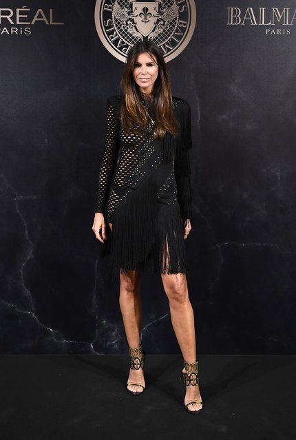 Christina Pitanguy attends the L'Oreal Paris X Balmain event as part of the Paris Fashion Week Womenswear  Spring/Summer 2018 on September 28, 2017 in Paris, France. (Photo by Pascal Le Segretain/Getty Images)