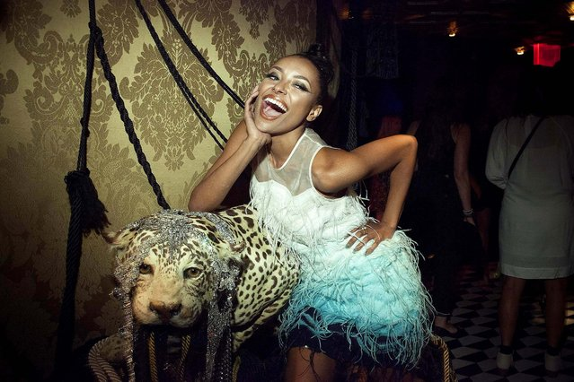 Kat Graham at the Diamond Horseshoe in Times Square for a party thrown by InStyle during New York Fashion Week, September 8, 2014. The magazine was celebrating its 20th anniversary. (Photo by Deidre Schoo/The New York Times)