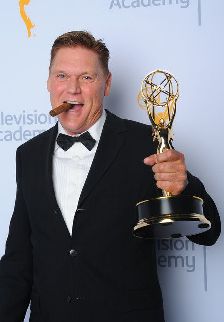 "Norman Howell, winner of the award for outstanding stunt coordination for a comedy series or variety program for ""Brooklyn Nine-Nine"", poses for a portrait at the Television Academy's Creative Arts Emmy Awards at Microsoft Theater on Saturday, EXCLUSIVE -"