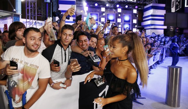 Ariana Grande arrives at the 2016 MTV Video Music Awards in New York, U.S., August 28, 2016. (Photo by Lucas Jackson/Reuters)