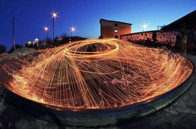 """""""This photo represents an urban environment through an abstract long exposure photo at an urban location"""". (Photo and comment by Robert Gifford, United Kingdom/2013 Sony World Photography Awards"""