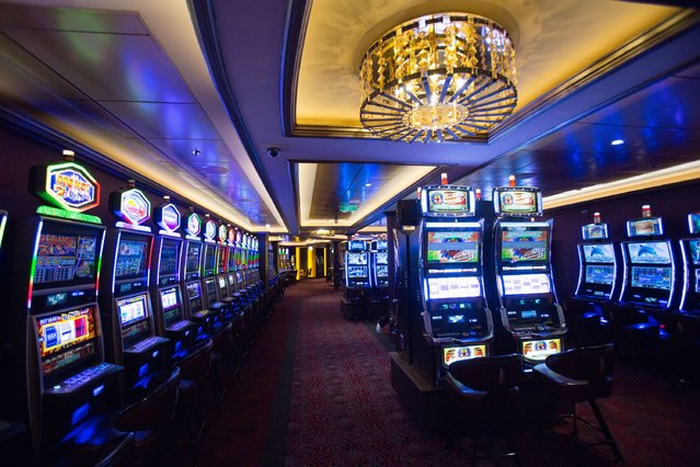 Gaming machines are seen onboard the cruise ship Quantum of the Seas which is currently docked at Southampton on October 31, 2014 in Southampton, England. (Photo by Matt Cardy/Getty Images)