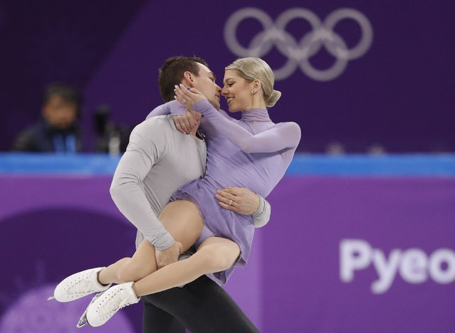 USA' s Alexa Scimeca Knierim and USA' s Chris Knierim compete in the figure skating team event pair skating free skating during the Pyeongchang 2018 Winter Olympic Games at the Gangneung Ice Arena in Gangneung on February 11, 2018. (Photo by John Sibley/Reuters)