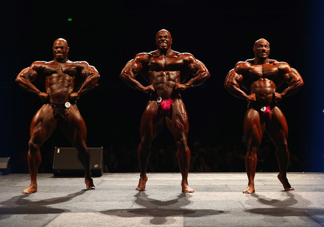 Edward Nunn of the USA, Toney Freeman of the USA and Dexter Jackson of the USA pose during the IFBB Australia Pro Grand Prix XII at The Plenary on March 9, 2013 in Melbourne, Australia.  (Photo by Robert Cianflone)