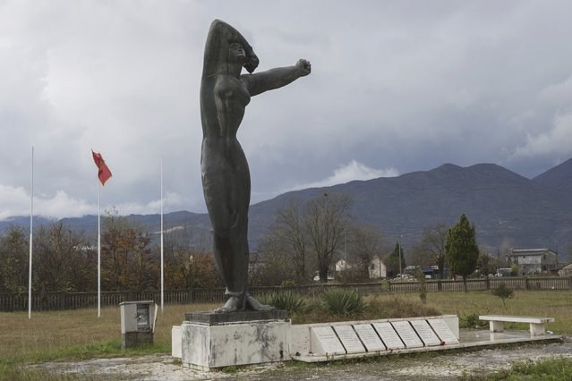 """General view of the memorial """"Monument to Executed Youth"""" in Lazine, Montenegro, November 19, 2014. (Photo by Stevo Vasiljevic/Reuters)"""