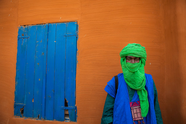 """Touareg in blue"". Portrait of a Touareg in Segou, Sahel, Mali. (Photo and caption by Anthony Pappone/National Geographic Traveler Photo Contest)"