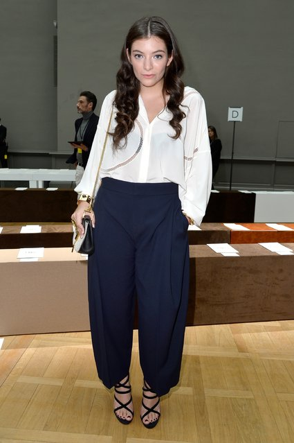PARIS, FRANCE - MARCH 08: Singer Lorde attends the Chloe show as part of the Paris Fashion Week Womenswear Fall/Winter 2015/2016 on March 8, 2015 in Paris, France.  (Photo by Pascal Le Segretain/Getty Images)