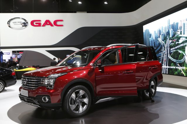 A 2018 GAC GS7 is displayed during the North American International Auto Show in Detroit, Michigan, U.S., January 10, 2017. (Photo by Rebecca Cook/Reuters)