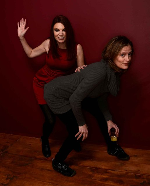 Actresses Jackie Monahan (L) and Susan Ziegler pose for a portrait during the 2014 Sundance Film Festival at the Getty Images Portrait Studio at the Village At The Lift on January 19, 2014 in Park City, Utah. (Photo by Larry Busacca/AFP Photo)