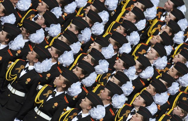 Russian female cadets march during the Victory Day parade at Red Square in Moscow, Russia, May 9, 2015. (Photo by Reuters/Host Photo Agency/RIA Novosti)