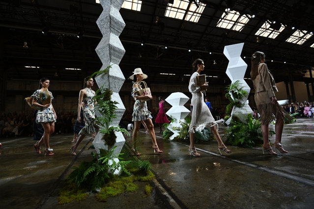 Models walk the runway during the Tigerlily show at Mercedes-Benz Fashion Week Resort 20 Collections at Carriageworks on May 13, 2019 in Sydney, Australia. (Photo by James Gourley/Getty Images)