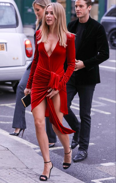 Kimberley Garner attends the opening of a new exhibition at the Maddox Gallery in Notting Hill, London on May 9, 2019. (Photo by New Media Images – SB)