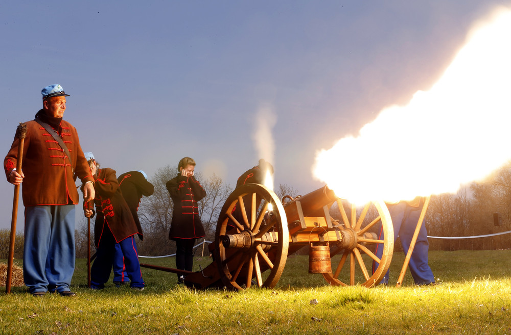 Re-enactment of the Battle of Tapiobicske