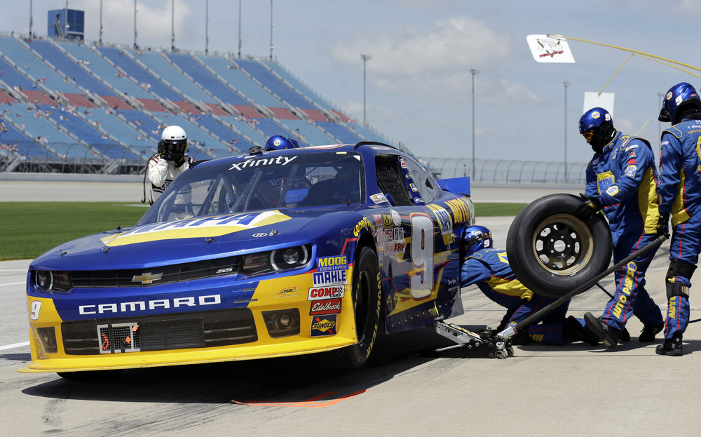 NASCAR Xfinity series auto race at Chicagoland Speedway