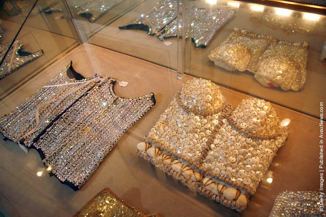Sequin bustiers worn by Madonna