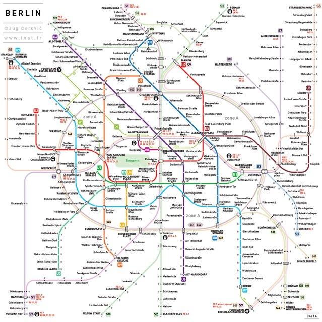 Metro map: Berlin, Germany. (Photo by Jug Cerovic)