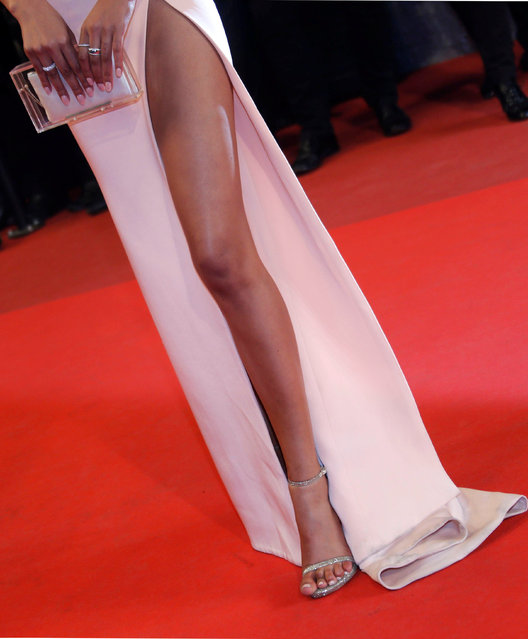 """Model Chanel Iman arrives on the red carpet for the screening of the film """"Hands of Stone"""" out of competition at the 69th Cannes Film Festival in Cannes, France, May 16, 2016. (Photo by Regis Duvignau/Reuters)"""