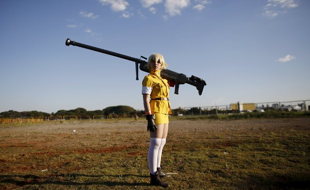 "A cosplay enthusiast poses as Serasu Vikutoria of the Hellsing anime series during the ""Anime Friends"" annual event in Sao Paulo July 19, 2015. (Photo by Nacho Doce/Reuters)"