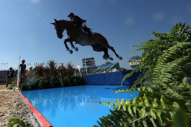 Scott Keach of Australia riding Fedor competes during the Jumping Individual and Team Qualifier on Day 9 of the Rio 2016 Olympic Games at the Olympic Equestrian Centre on August 14, 2016 in Rio de Janeiro, Brazil. (Photo by Christian Petersen/Getty Images)