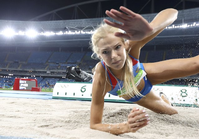 2016 Rio Olympics, Athletics, Preliminary, Women's Long Jump Qualifying Round, Groups, Olympic Stadium, Rio de Janeiro, Brazil on August 16, 2016. Darya Klishina (RUS) of Russia competes. (Photo by Phil Noble/Reuters)