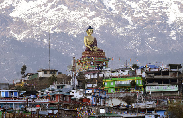 A Buddha statue is pictured in Tawang in the northeastern state of Arunachal Pradesh, India, April 9, 2017. (Photo by Anuwar Hazarika/Reuters)