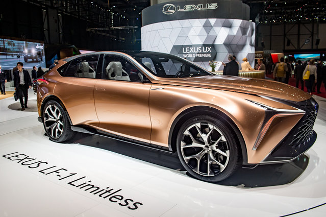 Lexus LF-1 Limitless is displayed at the 88th Geneva International Motor Show on March 6, 2018 in Geneva, Switzerland. Global automakers are converging on the show as many seek to roll out viable, mass-production alternatives to the traditional combustion engine, especially in the form of electric cars. The Geneva auto show is also the premiere venue for luxury sports cars and imaginative prototypes. (Photo by Robert Hradil/Getty Images)