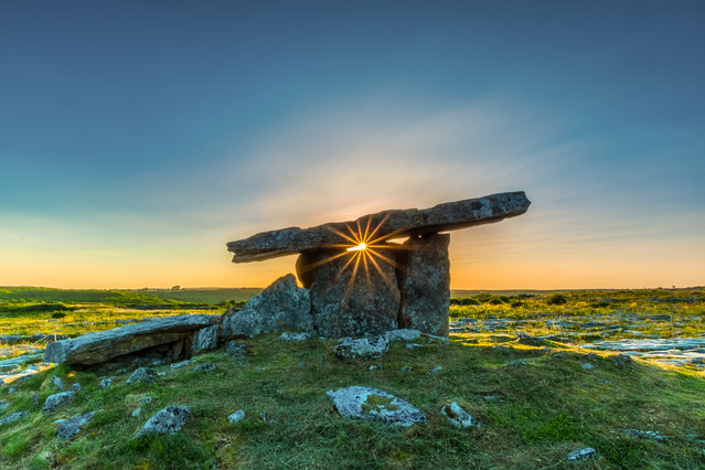 "Shortlisted: Poulnabrone Dolmen. ""I went to Poulnabrone Dolmen in County Clare in Ireland at sunset"". (Photo by Todor Tilev/Historic Photographer of the Year 2020)"
