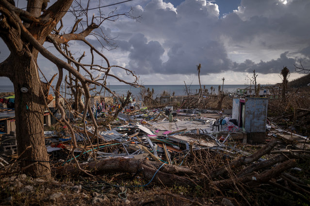 View of the destruction on November 23, 2020 at La Montaña sector in Providencia Island, Colombia. The islands of San Andres, Providencia and Santa Catalina were hit by Hurricane Iota in the early hours of Monday 16th as a category 5 storm, the strongest to affect the country since records are kept. The islands' economy depends on the tourism industry which has been suffering due to coronavirus restrictions since March. According to official sources, 98% of the Providencia Island infrastructure was destroyed by Iota's winds. President Duque contacted the US government for humanitarian help and assistance in hurricane crisis management during his visit to Providencia and San Andres island in the past week. (Photo by Diego Cuevas/Getty Images)