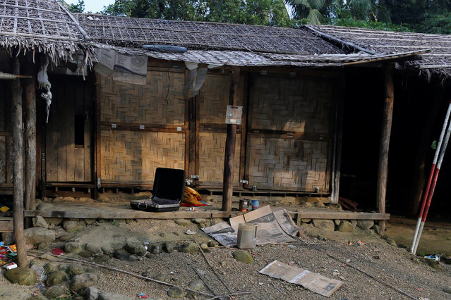 A Rohingya abandoned house  is seen at U Shey Kya village outside Maungdaw, in Rakhine state, Myanmar October 26, 2016. (Photo by Soe Zeya Tun/Reuters)