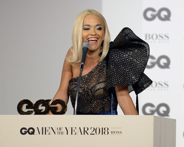 Rita Ora attends the GQ Men of the Year awards at the Tate Modern on September 5, 2018 in London, England. (Photo by Richard Young/Rex Features/Shutterstock)