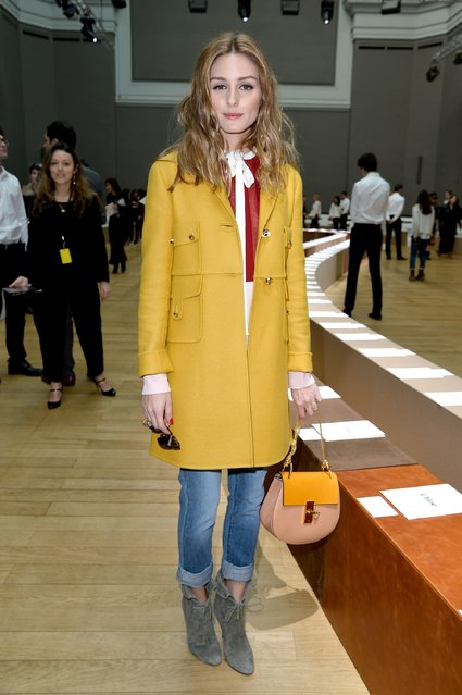 PARIS, FRANCE - MARCH 08: Olivia Palermo attends the Chloe show as part of the Paris Fashion Week Womenswear Fall/Winter 2015/2016 on March 8, 2015 in Paris, France.  (Photo by Pascal Le Segretain/Getty Images)