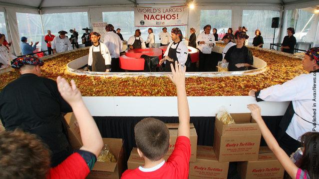 Guinness World Records World's Largest Nachos