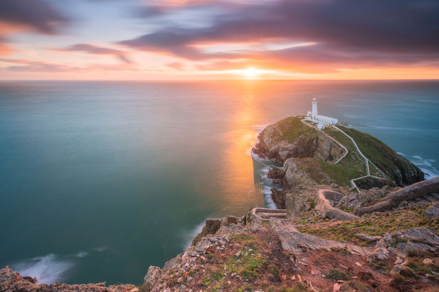 South Stack Lighthouse, Wales. (Photo by Alessio Putzu/Caters News Agency)