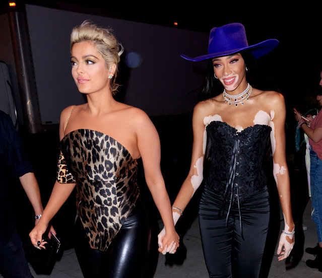 Bebe Rexha and Winnie Harlow at Republic VMA afterparty on August 27, 2019 in New York City. (Photo by Gotham/GC Images)