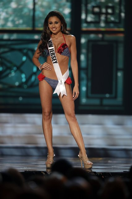 Miss New Jersey, Vanessa Oriolo, competes in the bathing suit competition during the preliminary round of the 2015 Miss USA Pageant in Baton Rouge, La., Wednesday, July 8, 2015. (Photo by Gerald Herbert/AP Photo)