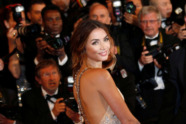 """Cast member Ana de Armas poses on the red carpet as they arrive for the screening of the film """"Hands of Stone"""" out of competition at the 69th Cannes Film Festival in Cannes, France, May 16, 2016. (Photo by Regis Duvignau/Reuters)"""