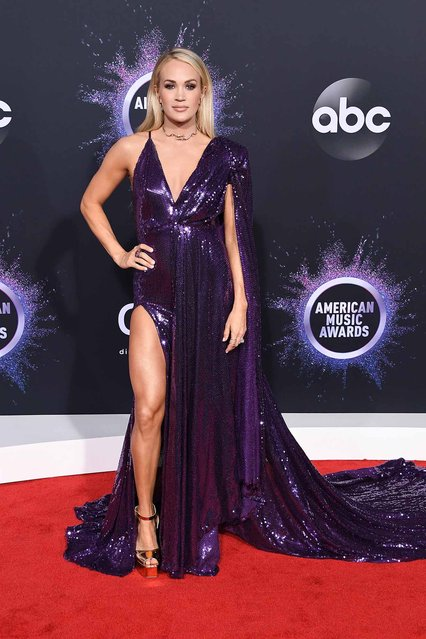 Carrie Underwood attends the 2019 American Music Awards at Microsoft Theater on November 24, 2019 in Los Angeles, California. (Photo by Steve Granitz/WireImage)