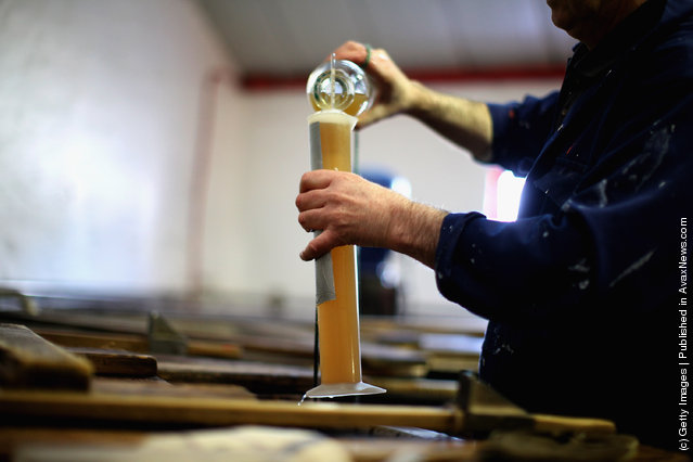 Jimmy Kennedy, takes a sample from the Wash Back at Edradour distillery on March 26, 2012 in Pitlochry, United Kingdom